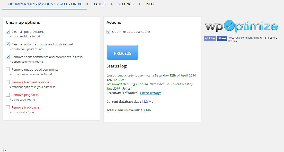 WP-Optimize Plugin to Optimize WordPress Database Easily