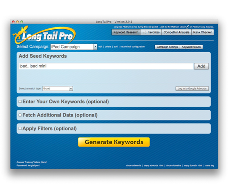 Long Tail Pro Tool Review , Pricing and Other Details