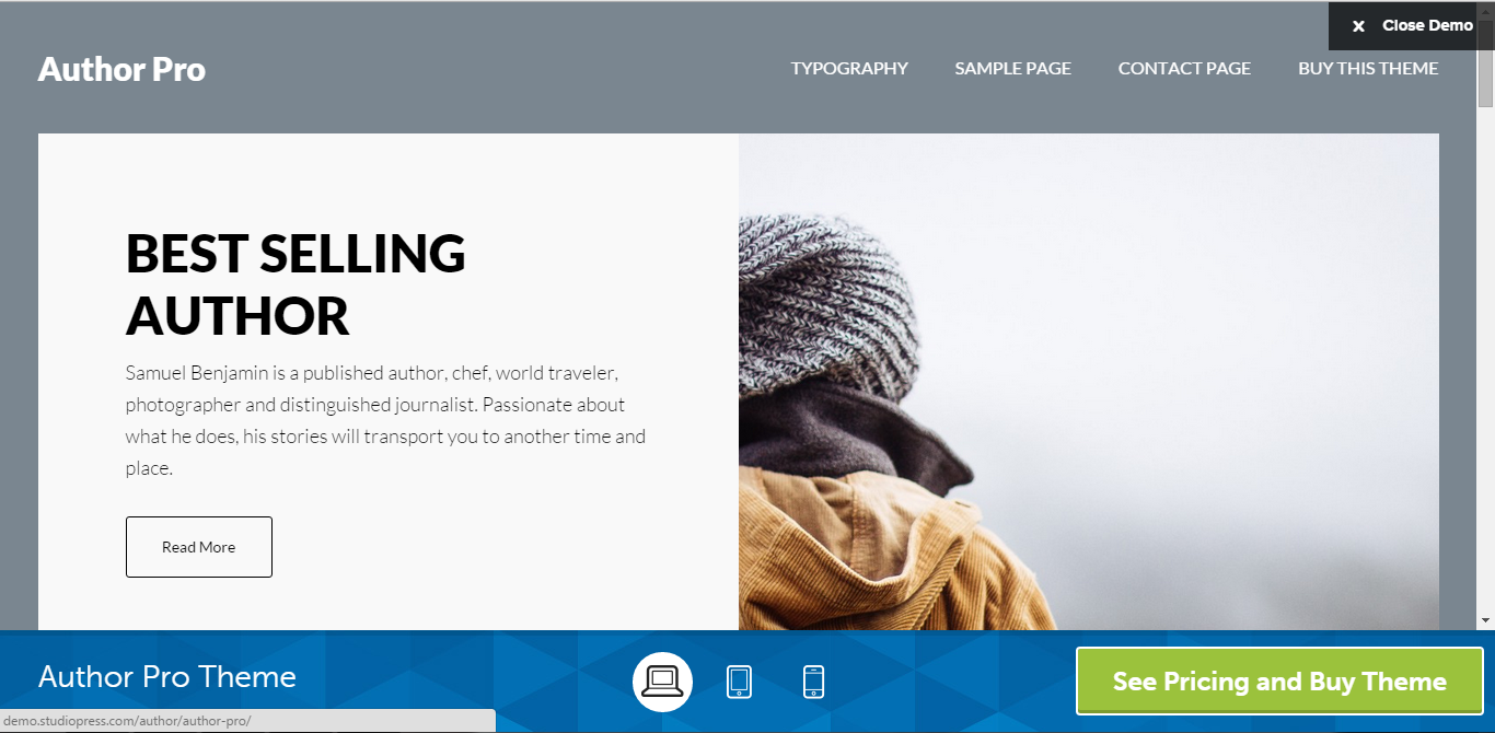 Author Pro Genesis Child Theme for Authors