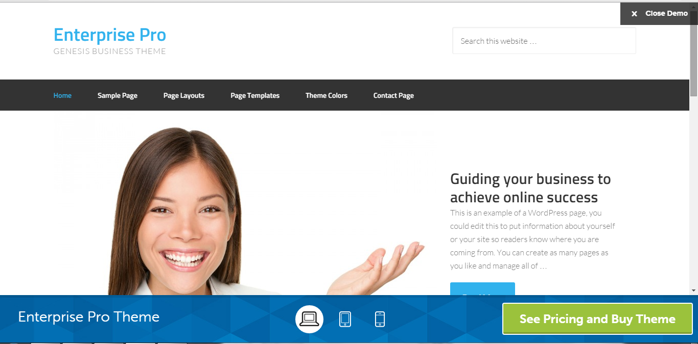 Enterprise Pro Theme for Entrepreneurs