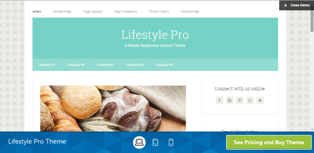 Lifestyle Pro Responsive Genesis Child Theme