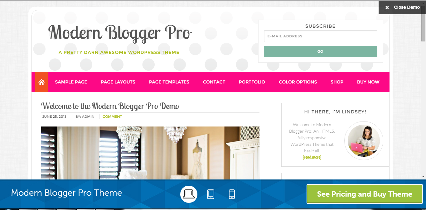 Modern Blogger Pro Stylish Genesis Child Theme Best for Personal Blogs