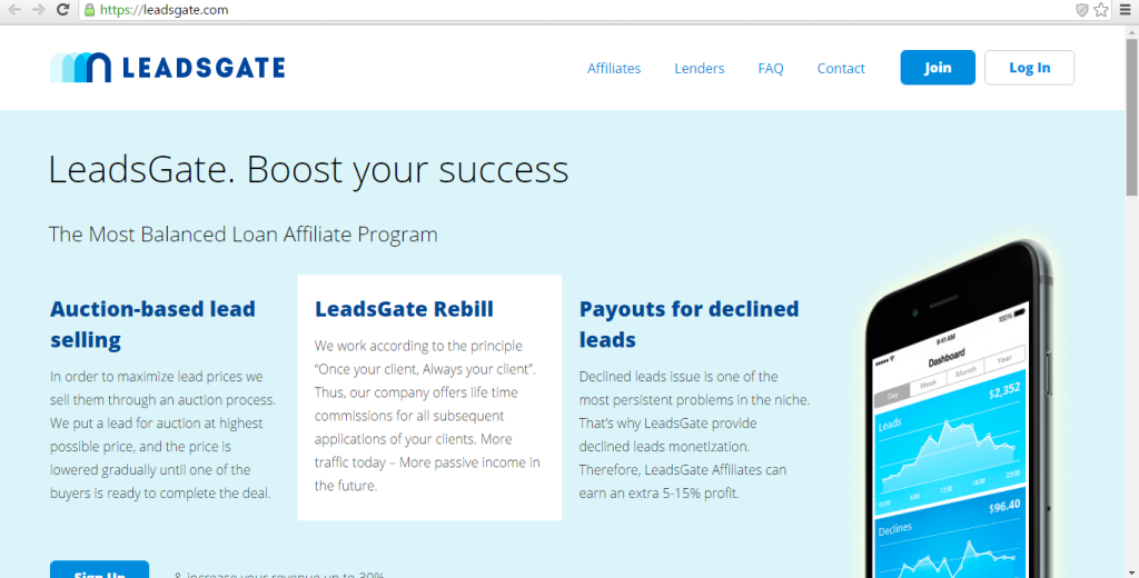 LeadsGate Affiliate Network Features