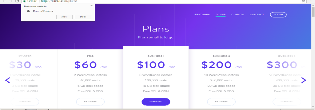 Kinsta Managed WordPress Hosting Plans and Features